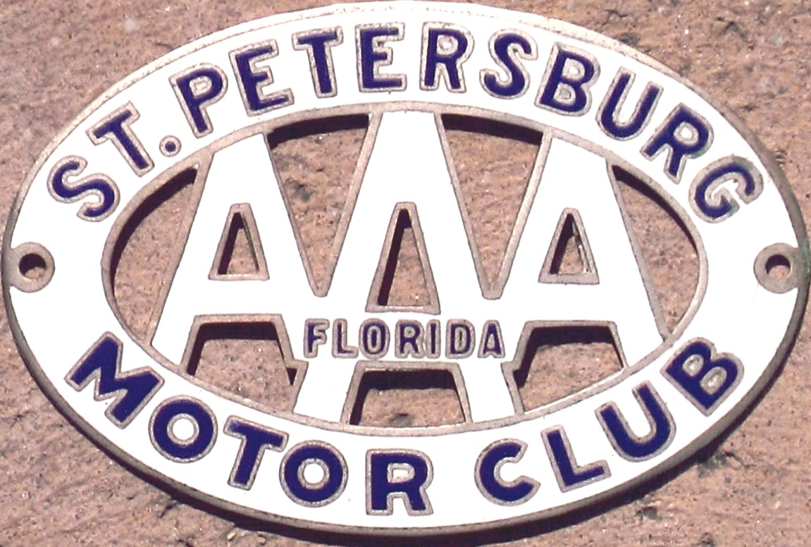 Porcelain Auto Club Badges Argentina Illinois