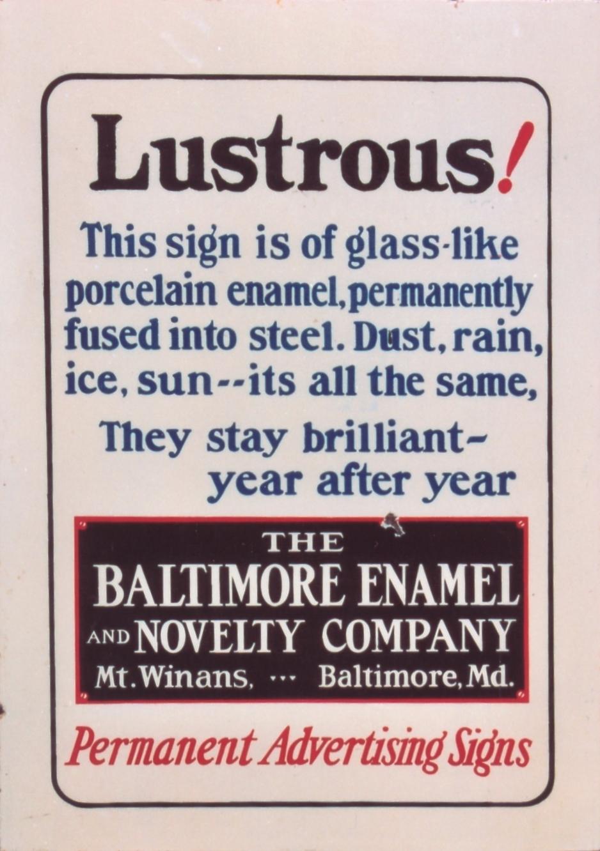 The Baltimore Enamel & Novelty Company