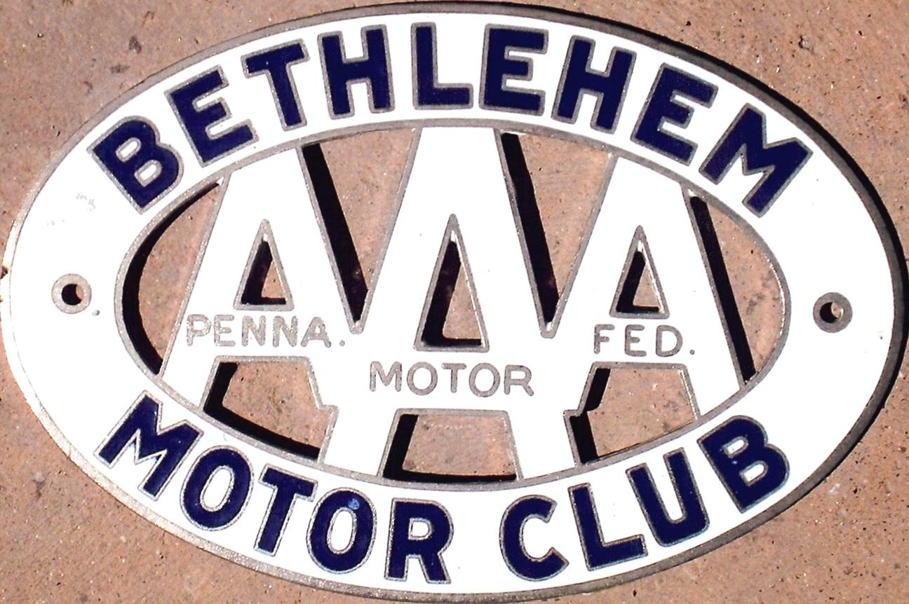 Porcelain Auto Club Badges Pennsylvania
