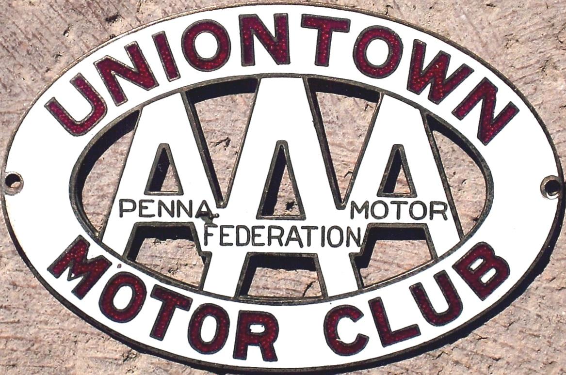 Porcelain auto club badges pennsylvania for City motors uniontown pa